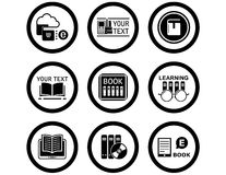 Book concept icons Royalty Free Stock Photo