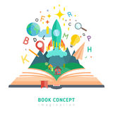 Book concept illustration Royalty Free Stock Image