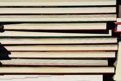 Book. Concept. Pile of books and notebooks Royalty Free Stock Photos