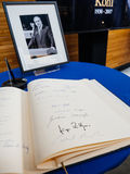 The book of condoleances for Helmut Kohl at European Parliament Royalty Free Stock Photography