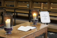 Book of condolence Stock Photos