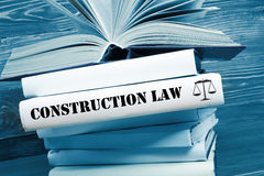 Book with Construction Law word on table in a Stock Images