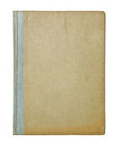 Book cover. Vintage hardback book cover isolated on white Royalty Free Stock Photo
