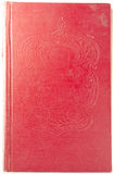 Book Cover. Red Cover book with tysnenyem Royalty Free Stock Photography