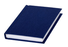 Blank blue book cover Stock Photography