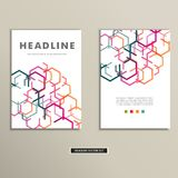 Book cover with abstract colored lines eps Royalty Free Stock Photography