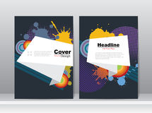 Book Cover with Abstract Colors Layout Design Royalty Free Stock Photo