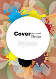 Book Cover with Abstract Colors Template Design Royalty Free Stock Images