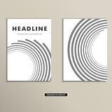 Book cover with abstract lines and twirl Royalty Free Stock Images