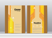Book Cover with Business Concept for Template Stock Image