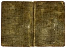 Book Cover Canvas. Old Book Cover - Grungy canvas with grainy surface - XL size Royalty Free Stock Photo