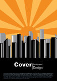 Book Cover City Concept Template Royalty Free Stock Photo