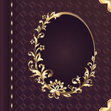 Book cover design with decorative floral ornate frame Royalty Free Stock Photo