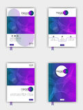 Book cover design set. A4. Book cover design set. Good for publications journals, banners, flyer, portfolio, monographs and magazines. Vector. A4 stock illustration
