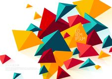 Book cover design template with abstract polygonal objects. Vector art Royalty Free Stock Photos