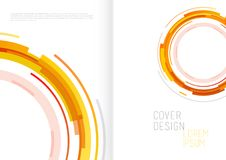 Book cover design template with abstract polygonal objects. Vector art Royalty Free Stock Photography