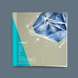 Book cover with diamond element Royalty Free Stock Photography