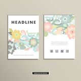 Book cover with flowers. Vector vintage design Royalty Free Stock Photos
