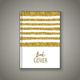 Book cover with gold glittery design. Book cover with a gold glitter design Royalty Free Stock Image