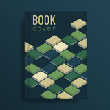Book cover with green books ornament Royalty Free Stock Image