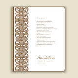 Book cover with jewelry gold border ornament Stock Photos