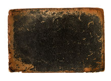 book cover leather with rough worn edges Stock Images
