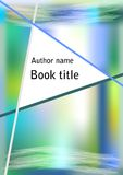 Book cover in modern abstract blue green design with triangle Royalty Free Stock Photography