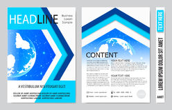 Book cover presentation. Abstract geometric background Royalty Free Stock Photography