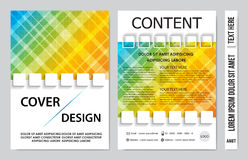 Book cover presentation. Abstract geometric background Stock Photo