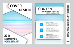 Book cover presentation. Abstract geometric background Royalty Free Stock Photos