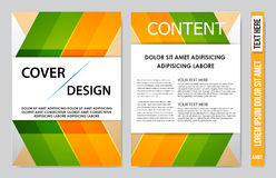 Book cover presentation. Abstract geometric background Stock Image