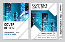 Book cover presentation. Abstract geometric background Stock Photos