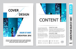 Book cover presentation. Abstract geometric background Stock Photography