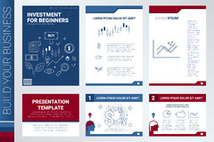 Book cover and presentation template Royalty Free Stock Photography