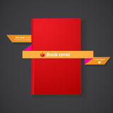Book cover with ribbon Royalty Free Stock Images