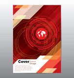 Book Cover with Technology Template Stock Image