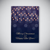 Book Cover Template. Abstract Beauty Merry Christmas and New Yea Stock Image