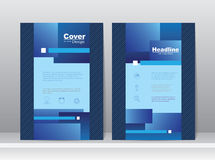 Book Cover Template Design Stock Images