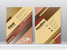 Book Cover Template Design in A4 Royalty Free Stock Photos