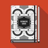 Book cover template Royalty Free Stock Images