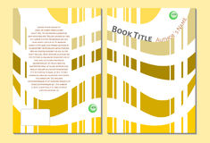 Book cover template, yellow and white Royalty Free Stock Images