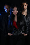 Book cover for a vampire novel - three modern vampires Royalty Free Stock Images