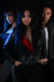 Book cover for a vampire novel - Three young vampires. Book cover for a vampire novel Stock Photo