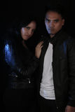 Book cover for a vampire novel - Young couple of vampires Royalty Free Stock Photo