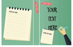 Book cover vector template Stock Images