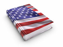 Book covered with American flag Stock Image