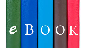 Book covers word ebook. Royalty Free Stock Photos
