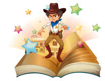 A book with a cowboy and stars Stock Photography