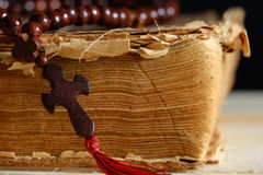 Book and the Cross Royalty Free Stock Photo