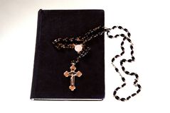Book with crucifix Royalty Free Stock Photo